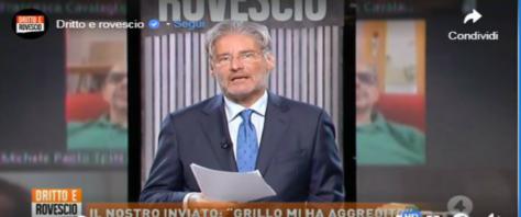 Del Debbio contro Grillo