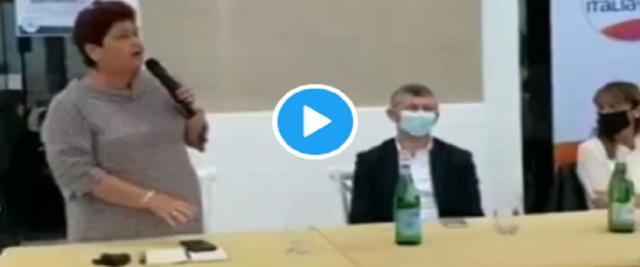 Gaffe della Bellanova in Puglia al comizio di Scalfarotto chiede un voto per Emiliano frame e video da Twitter di RadioSavana