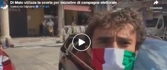 La scorta di Di Maio insulta BNignami frame da video sulla pagina Fb del deputato Fdi