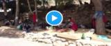 Le immagini dell'hotspot di Lampedusa postate su Twitter da Daniela Santanchè