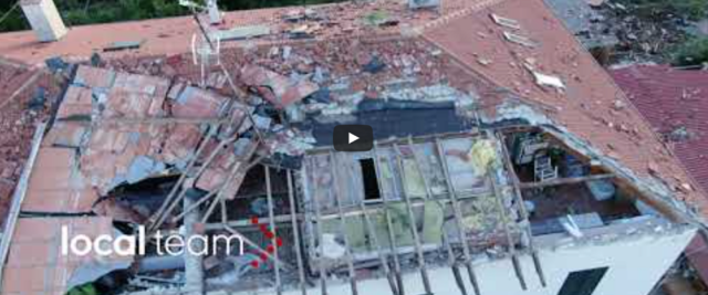 Tornado nel Livornese frame da video Youtube