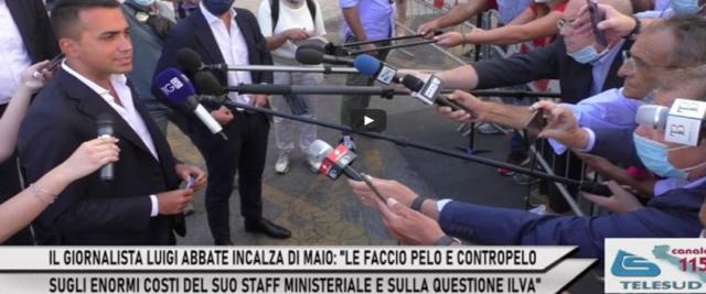 Giornalista incalza DI Maio che fugge dalle domande frame da video su Youtube