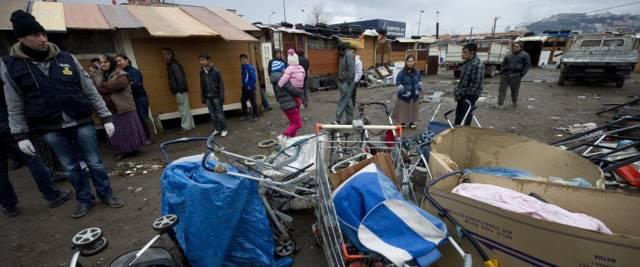I roma danno la colpa agli italiani foto Ansa