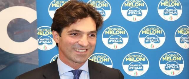 Il governatore delle MArche appena eletto con Fdi Francesco Acquaroli foto Ansa
