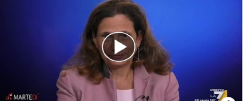 laria Capua sul Covid frame e video dalla pagina Fb de La7