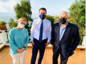 Salvini a Catania con Giorgia Meloni e Antonio Tajani foto dal Facebook di Matteo Salvini