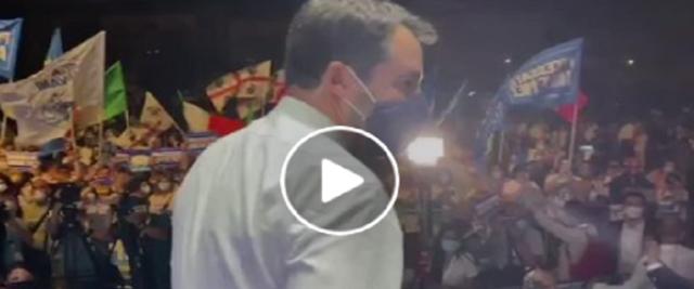 Salvini a Catania video e frame dalla pagina Fb di Salvini