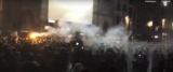 Scontri a Firenze fermate 20 persone frame e video Askanews da Youtube