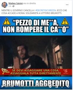 Solidarietà di Salvini a Brumotti