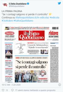 Vignetta di Vauro contro Salvini foto dalla pagina Twitter del Fatto Quotidiano