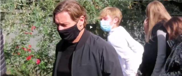 Funerale papà di Totti frame da video Youtube