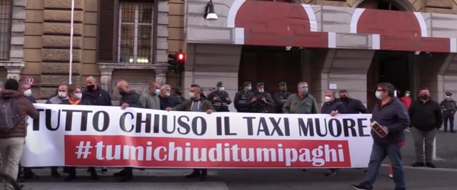 Protesta dei taxi a Roma