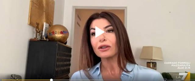 """Ilaria D'Amico nel corso della trasmissione """"L'aria che tira"""""""