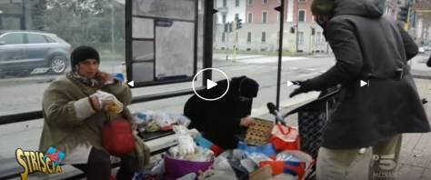 Striscia denuncia stranieri che vendono cibo avuto in beneficenza