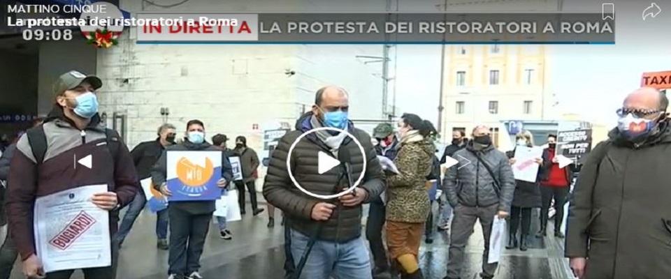 Protesta ristoratori a Roma