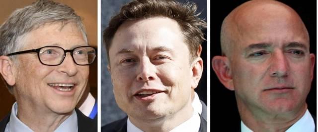 Paperoni mondiali Gates Musk Bezos