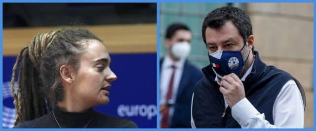 Salvini sfida Carola