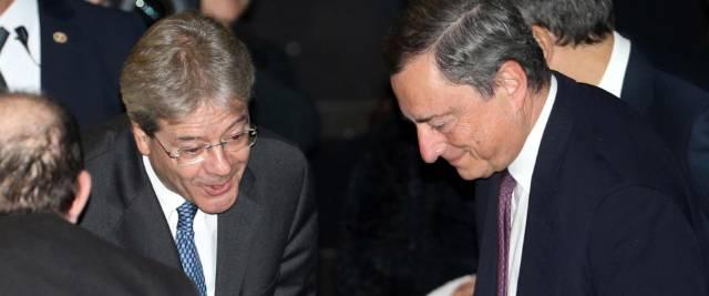 Draghi e Gentiloni