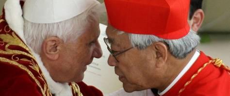 cardinale zen benedetto xvi ANSA