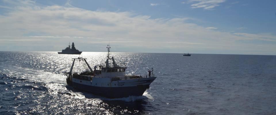 pescherecci italiani in acque libiche