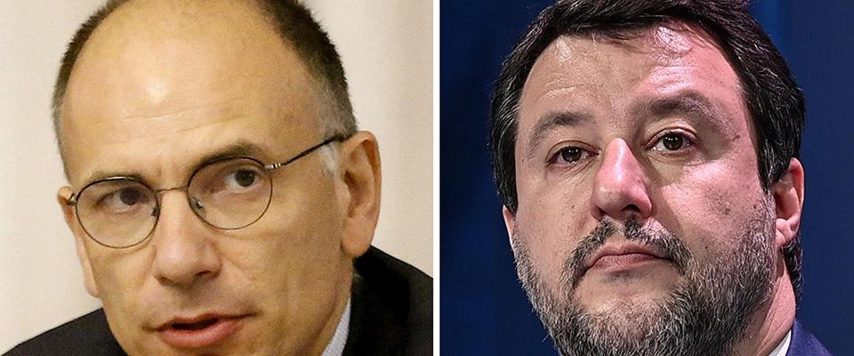 Letta contro Salvini