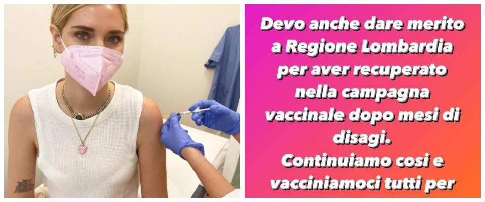 chiara ferragni vaccino
