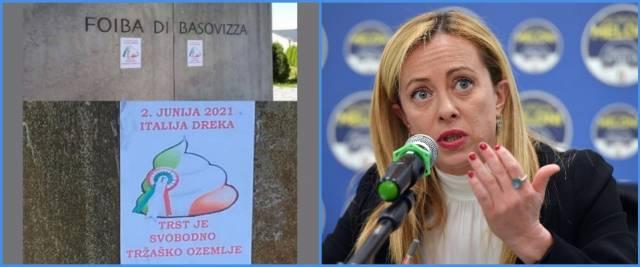 manifesti anti-italiani foiba Basovizza