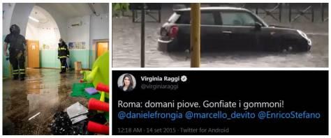 temporale roma, raggi