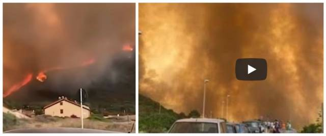 Sardegna in fiamme, foto