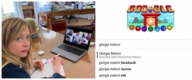 giorgia meloni google