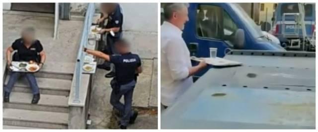 """La rabbia di poliziotti e carabinieri contro il green pass per la mensa: """"Trattati come bestie"""" (video)"""