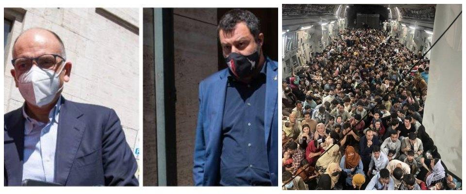 Salvini Letta profughi