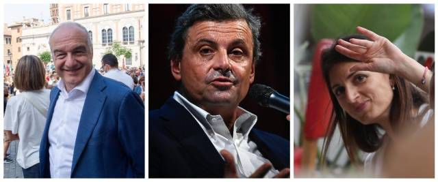 Michetti, Calenda, Raggi