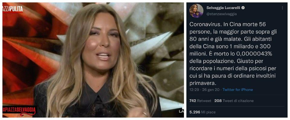 Selvaggia Lucarelli, Meloni