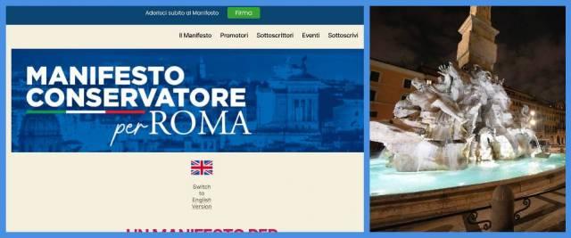 manifesto conservatore roma