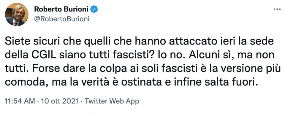 Burioni Tweet